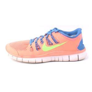 Nike Womens Free 5.0 Running Shoes in Atomic Pink